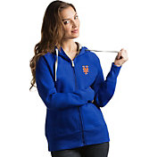 Antigua Women's New York Mets Royal Victory Full-Zip Hoodie