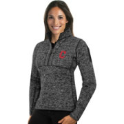 Antigua Women's Cleveland Indians Grey Fortune Half-Zip Pullover
