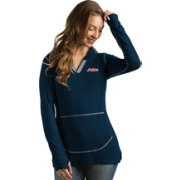 Antigua Women's Cleveland Indians Navy Move Pullover