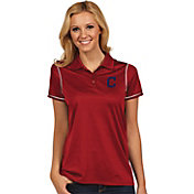 Antigua Women's Cleveland Indians Icon Red Performance Polo
