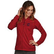 Antigua Women's Cleveland Indians Full-Zip Red  Golf Jacket