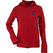 Antigua Women's Cleveland Indians Signature Red Full-Zip Hoodie