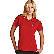 Antigua Women's Cleveland Indians Exceed Red Performance Polo