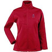Antigua Women's Los Angeles Angels Red Traverse Soft Shell Full-Zip Jacket