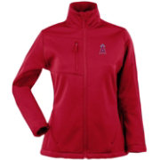 Antigua Women's Los Angeles Angels Red Traverse Soft Shell Full-Zip Jacket