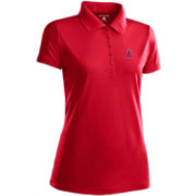Antigua Women's Los Angeles Angels Dark Red Xtra-Lite Pique Performance Polo