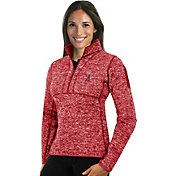Antigua Women's Los Angeles Angels Red Fortune Half-Zip Pullover