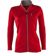 Antigua Women's Los Angeles Angels Leader Red Full-Zip Jacket