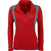 Antigua Women's Los Angeles Angels Delta Red Quarter-Zip Pullover