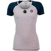 Antigua Women's Washington Nationals White/Navy Crush T-Shirt
