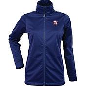 Antigua Women's Washington Nationals Full-Zip Navy       Golf Jacket