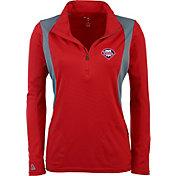 Antigua Women's Philadelphia Phillies Delta Red Quarter-Zip Pullover