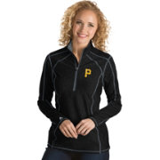 Antigua Women's Pittsburgh Pirates Black Tempo Quarter-Zip Pullover