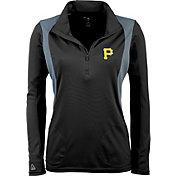 Antigua Women's Pittsburgh Pirates Delta Black Quarter-Zip Pullover