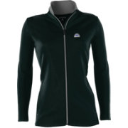 Antigua Women's Colorado Rockies Leader Black Full-Zip Jacket