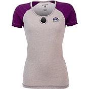 Antigua Women's Colorado Rockies White/Purple Crush T-Shirt