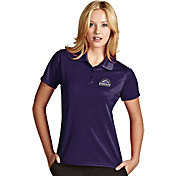Antigua Women's Colorado Rockies Exceed Purple Performance Polo