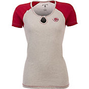 Antigua Women's Cincinnati Reds White/Red Crush T-Shirt