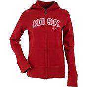 Antigua Women's Boston Red Sox Dark Red Signature Full-Zip Fleece Hoodie