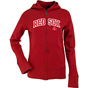 Antigua Women's Boston Red Sox Dark Red Signature Full-Zip Fleece Hoodie