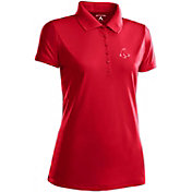 Antigua Women's Boston Red Sox Dark Red Xtra-Lite Pique Performance Polo