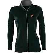 Antigua Women's Baltimore Orioles Leader Black Full-Zip Jacket