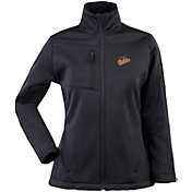 Antigua Women's Baltimore Orioles Traverse Soft Shell Full-Zip Black Jacket