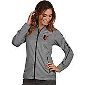 Antigua Women's Baltimore Orioles Grey Golf Jacket