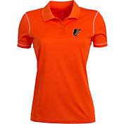 Antigua Women's Baltimore Orioles Icon Orange Performance Polo