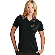 Antigua Women's Baltimore Orioles Exceed Black Performance Polo