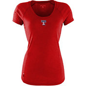 Antigua Women's Texas Rangers Patriotic Logo Red Pep T-Shirt