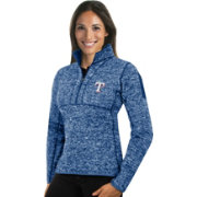 Antigua Women's Texas Rangers Royal Fortune Half-Zip Pullover