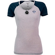 Antigua Women's Tampa Bay Rays White/Navy Crush T-Shirt
