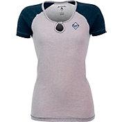 Antigua Women's Tampa Bay Rays White/Navy Crush T-Shirt