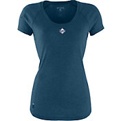 Antigua Women's Tampa Bay Rays Navy Pep T-Shirt
