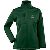 Antigua Women's Oakland Athletics Traverse Soft Shell Full-Zip Green Jacket