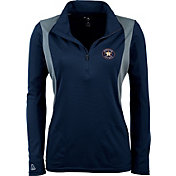Antigua Women's Houston Astros Delta Navy Quarter-Zip Pullover