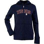 Antigua Women's Detroit Tigers Navy Signature Full-Zip Fleece Hoodie