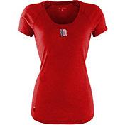 Antigua Women's Detriot Tigers Patriotic Logo Red Pep T-Shirt