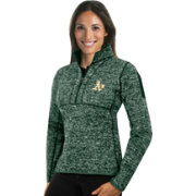 Antigua Women's Oakland Athletics Green Fortune Half-Zip Pullover