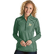 Antigua Women's Oakland Athletics Green Tempo Quarter-Zip Pullover