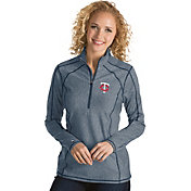 Antigua Women's Minnesota Twins Navy Tempo Quarter-Zip Pullover