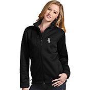 Antigua Women's Chicago White Sox Black Traverse Soft Shell Full-Zip Jacket