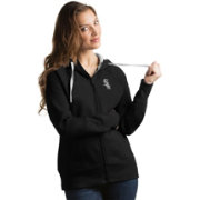 Antigua Women's Chicago White Sox Black Victory Full-Zip Hoodie