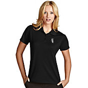 Antigua Women's Chicago White Sox Exceed Black Performance Polo