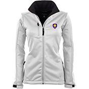 Antigua Women's Orlando City Traverse White Soft-Shell Full-Zip Jacket