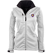 Antigua Women's Orlando City Traverse White Soft-Shell Full-Zip Jacket