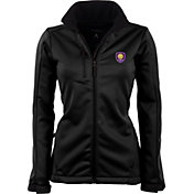 Antigua Women's Orlando City Traverse Black Soft-Shell Full-Zip Jacket