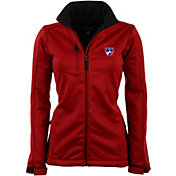 Antigua Women's FC Dallas Traverse Red Soft-Shell Full-Zip Jacket