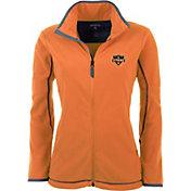 Antigua Women's Houston Dynamo Orange Ice Full-Zip Fleece Jacket